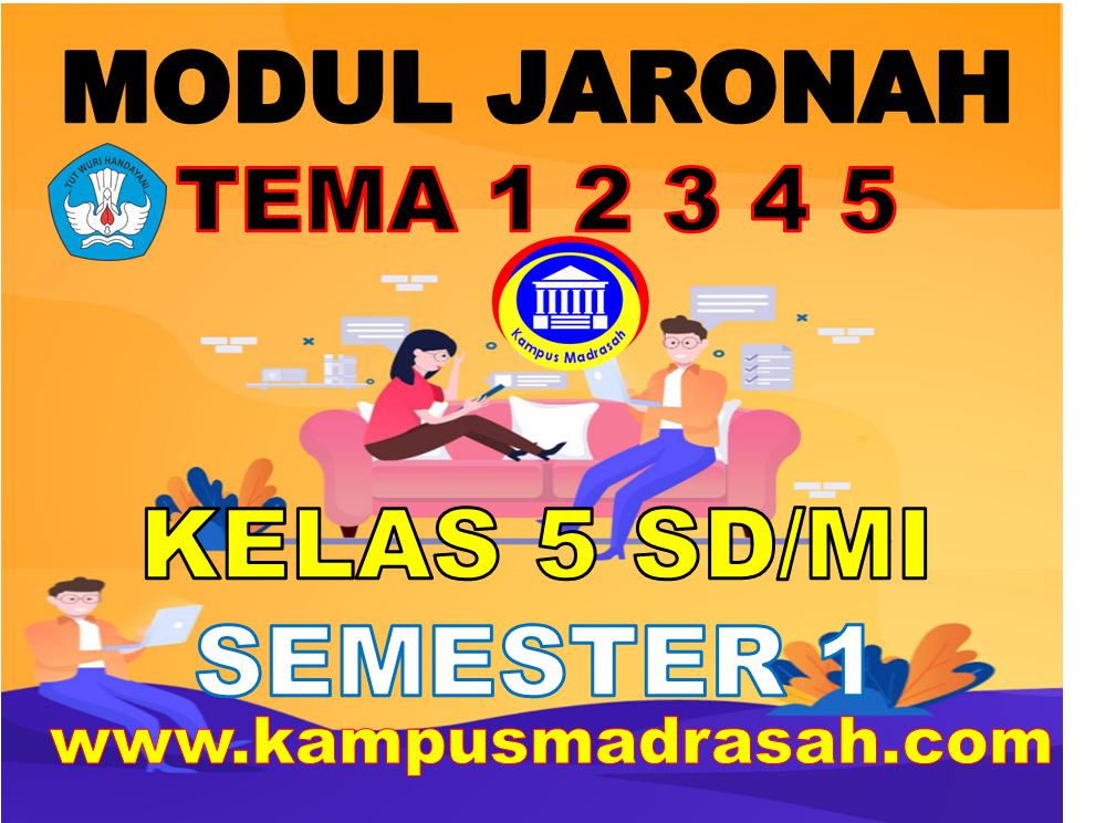 Modul BDR/PJJ Kelas 5 SD/MI Tema 1 2 3 4 5