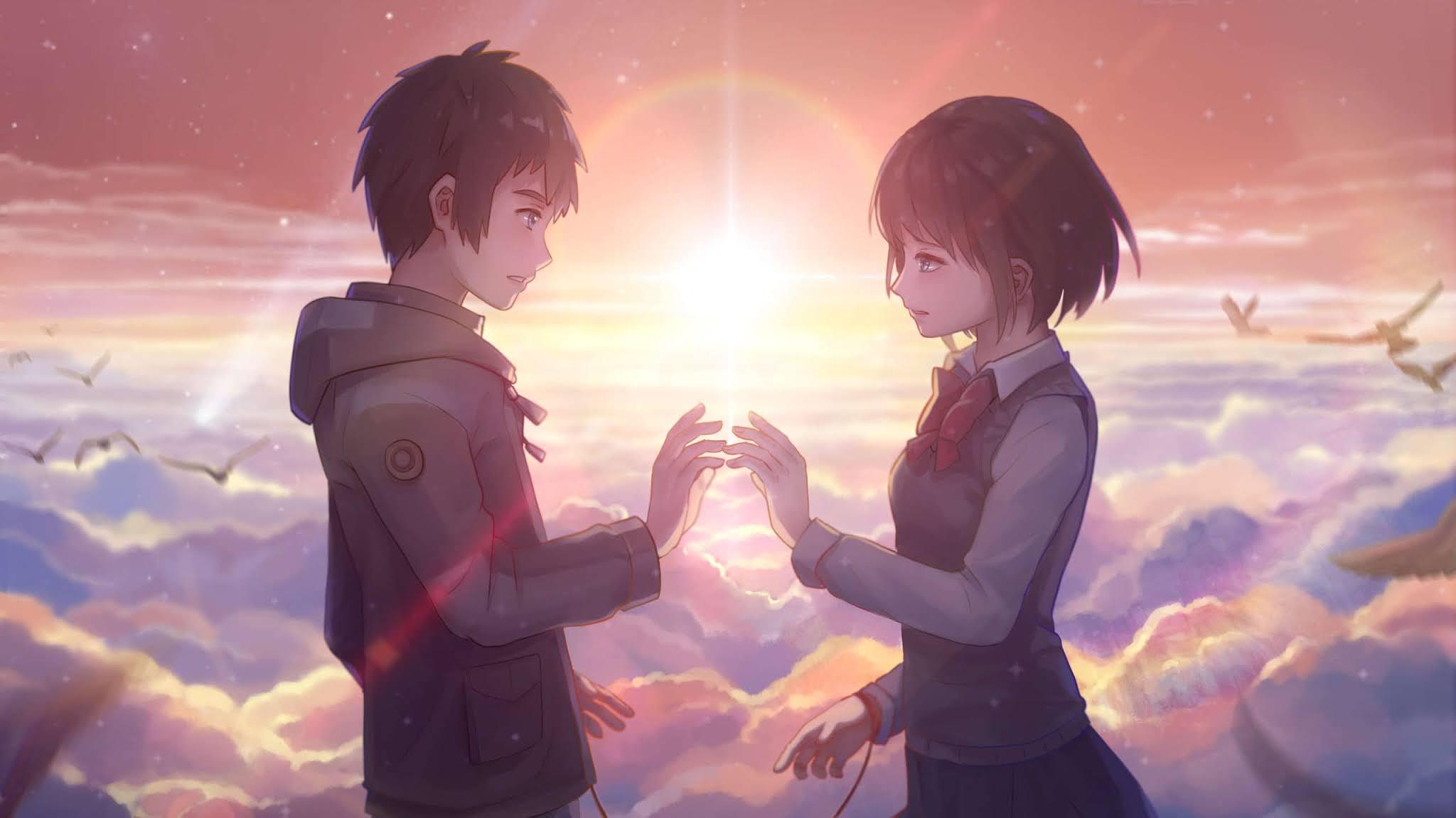 Anime wallpaper romantis laptop