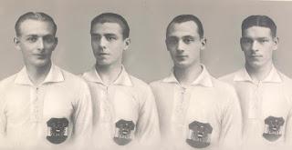 Da sinistra: Sindelar, Gall, Mock e Nausch con la maglia della nazionale.