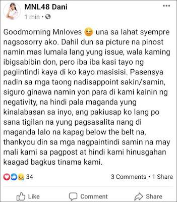MNL48 Dani graduation scandal dating daniella mae palmero
