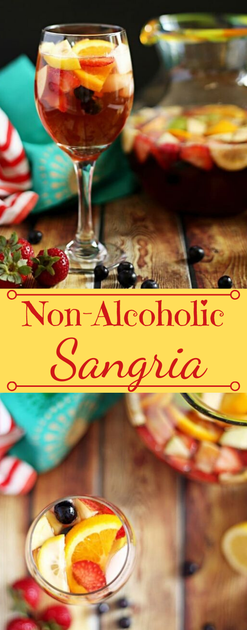 ALCOHOLIC SANGRIA MOCKTAIL #drink #cocktail #sangria #easy #party
