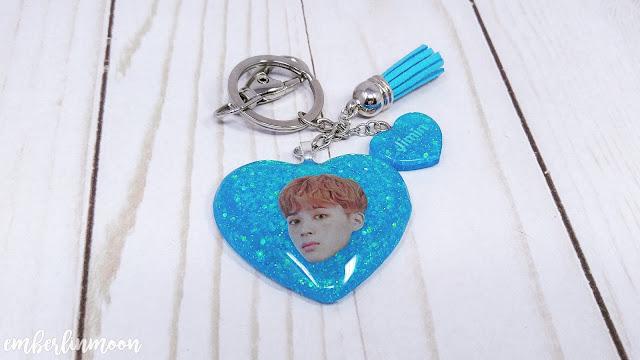 The Charming Mermaid BTS Jimin Heart-Shape Key-Chain