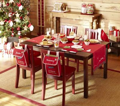 Cara Menghias Meja Makan Untuk Perayaan Natal