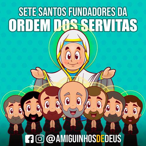 Sete Santos fundadores da Ordem dos Servitas desenho