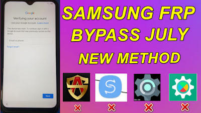 Samsung FRP Bypass July Patch Not Support Alliance Shield X-Smart Switch-Android Hidden Setting.