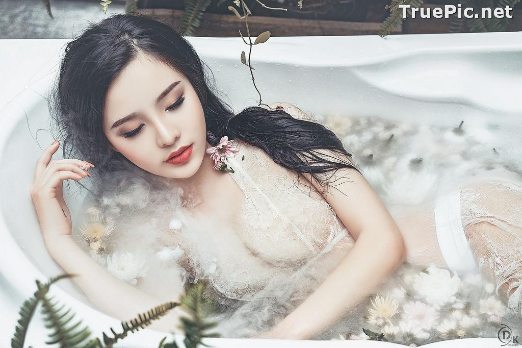 Image Vietnamese Model - Beautiful Fairy Flower In The Bath - TruePic.net - Picture-8