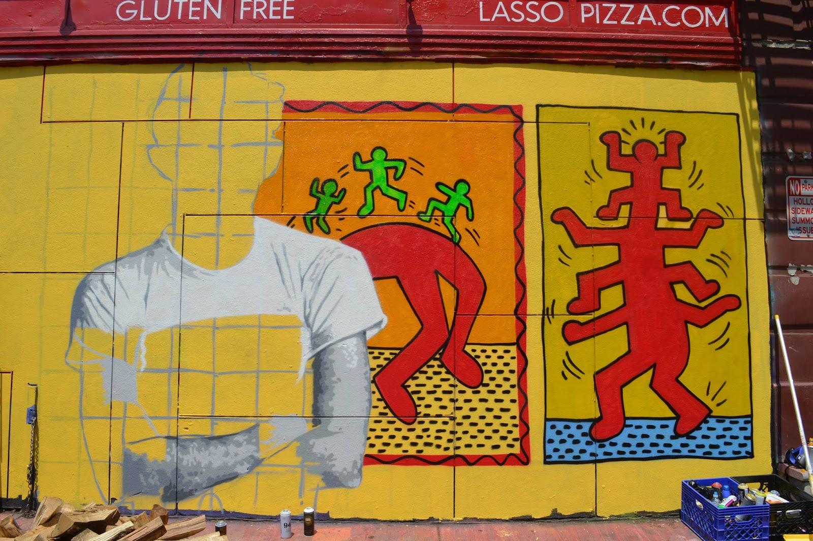 ART & FASHION SALON: Keith Haring Tribute Wall Happens in Soho!