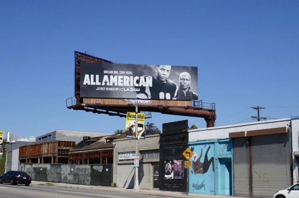 All American CW series billboard