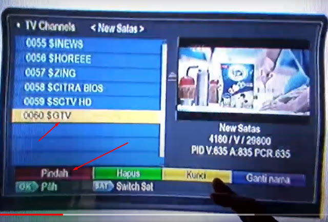 Cara Mengurutkan Menyusun Nomor Siaran Channel Nex Parabola Kuning, Merah Terbaru 03 Agustus 2020