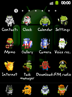 Icon pack Android Chibi Galaxy Young