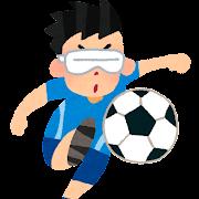 視覚障害者5人制サッカー・ブラインドサッカーのイラスト(パラリンピック)