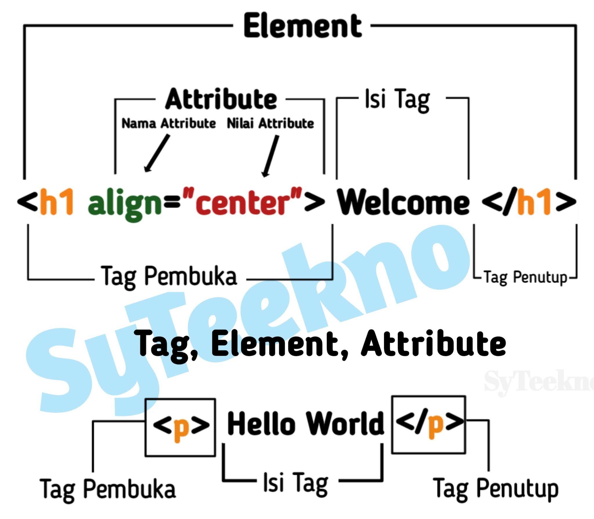 Tag, Element, Attribute HTML
