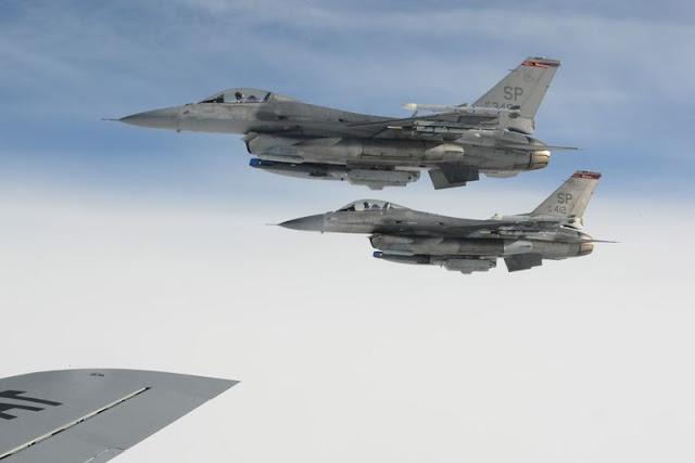 USAF F16 move Spangdahlem Aviano
