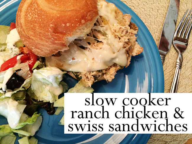 ranch chicken and swiss crockpot meal