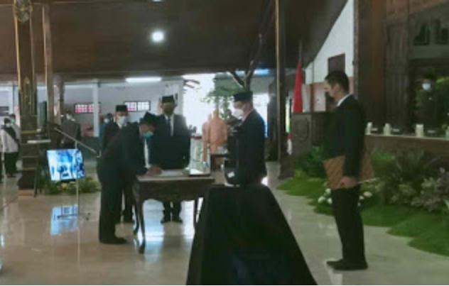 Bupati Tulungagung Lantik Pejabat Pimpinan Tinggi Pratama, Berikut Daftar Lengkapnya