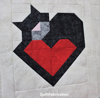 first cat and heart block by QuiltFabrication