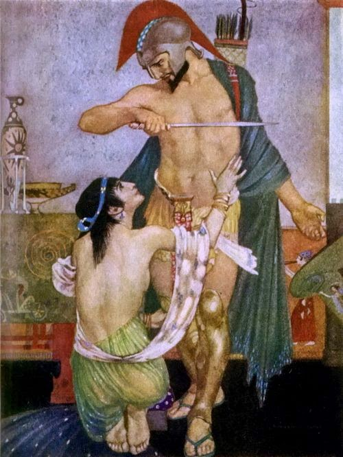 agamemnon and achilles relationship with his father
