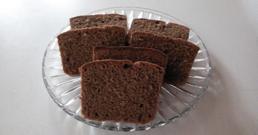 Chocolate Cake Baked In Convection Toaster Oven