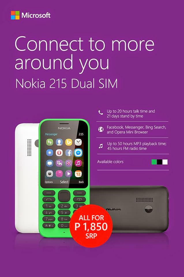 Nokia 215 Dual SIM Specs, Price and Availability