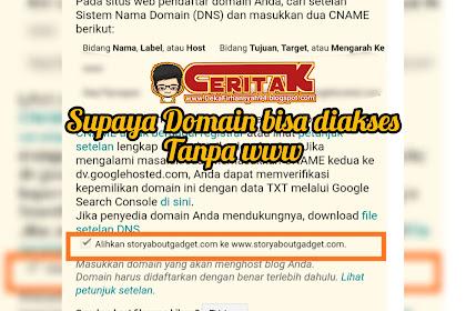 Supaya Domain bisa diakses tanpa www