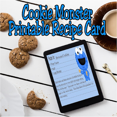 Get your recipe books organized with pretty printable recipe cards. This cute cookie monster graphic will help you keep your baking cute and ready for the holiday season, or just for some fun weekend treats.