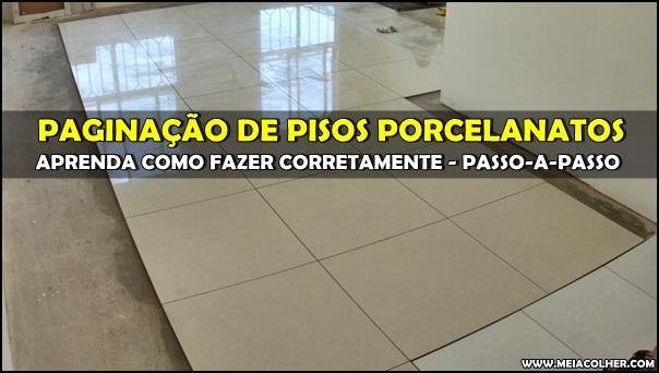 paginação do piso porcelanato