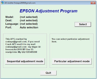 Resetter Epson L120 L220 L310 L311