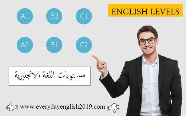 مستويات اللغة الانجليزية