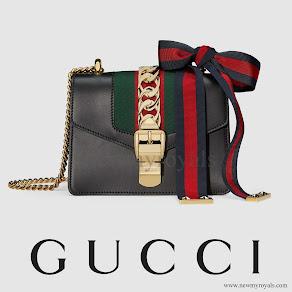 Charlotte Casiraghi style GUCCI Sylvie Leather Mini Chain Bag