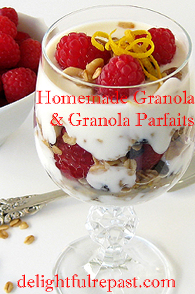 Homemade Granola - and Granola Parfaits / www.delightfulrepast.com
