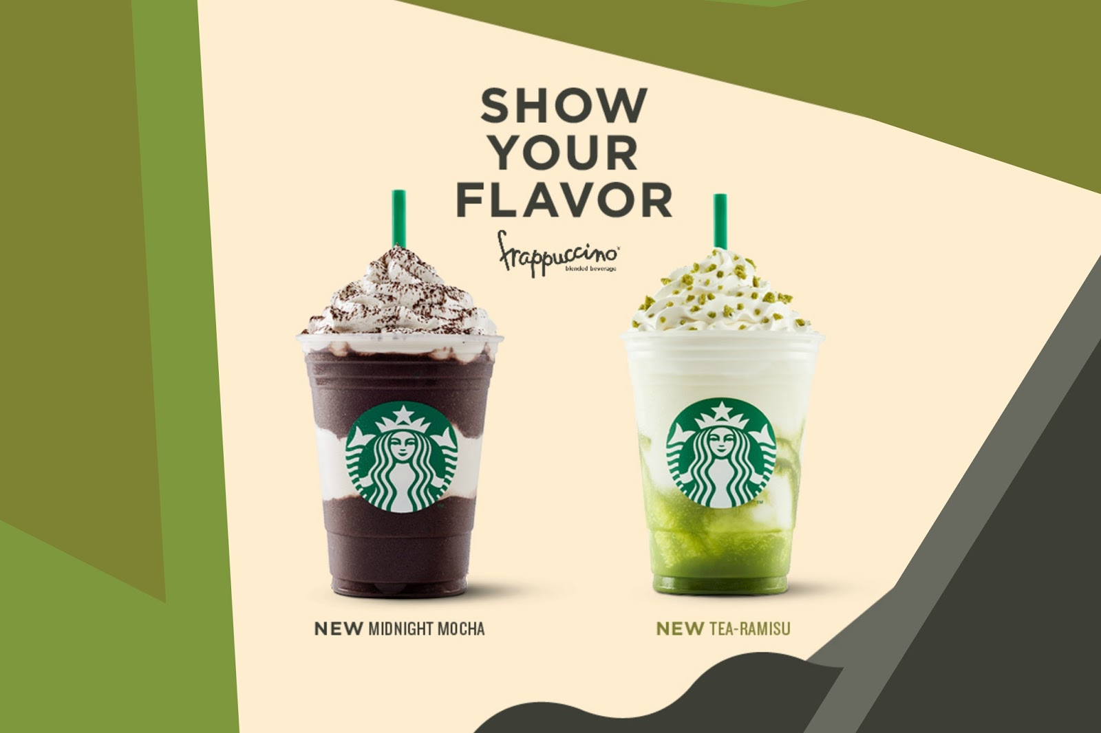Starbucks launched 2 summer flavors - Tea-ramisu and Midnight Mocha Frappuccino