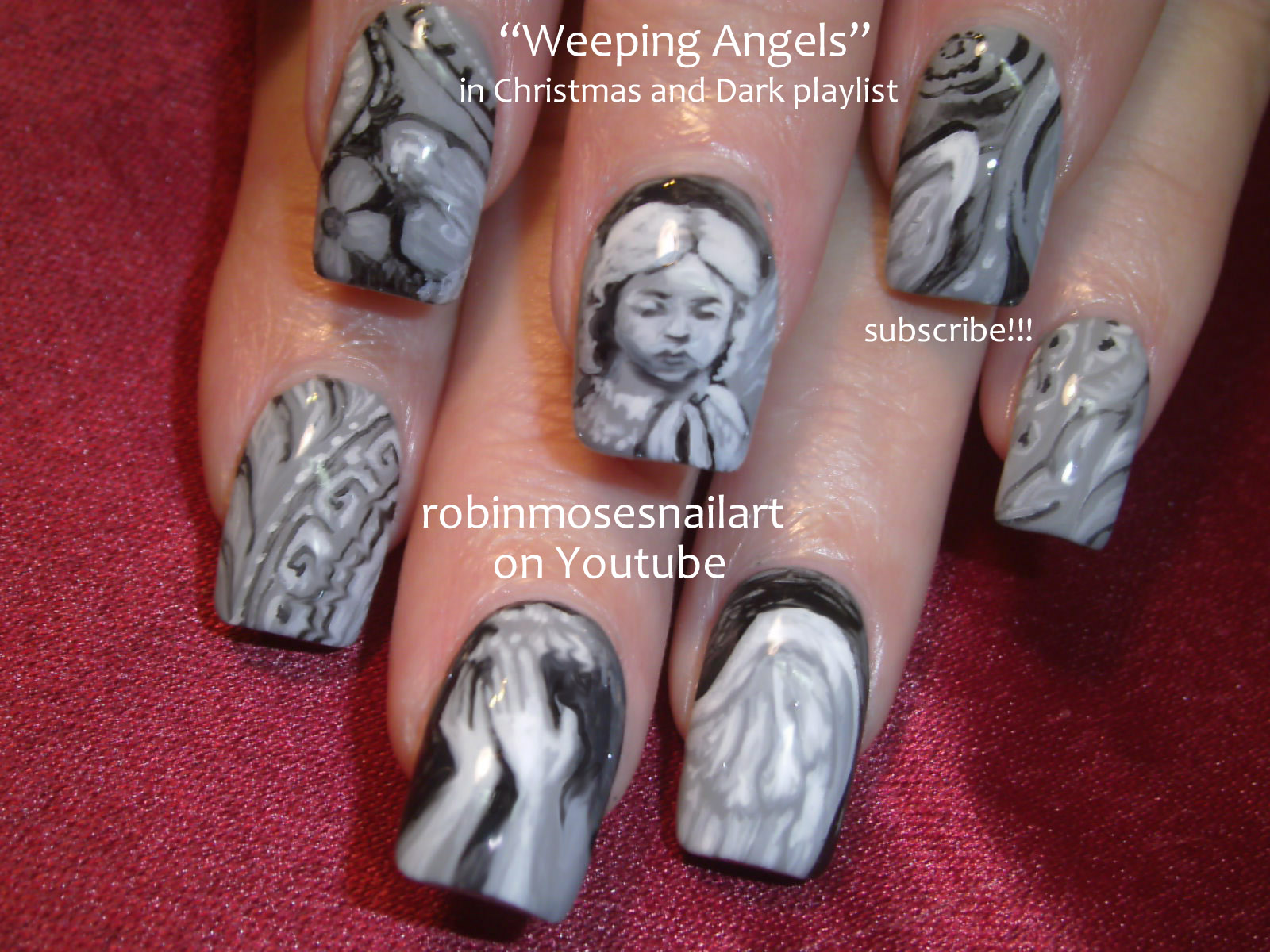 weeping angels, weeping angel nail art, doctor who nail art ...