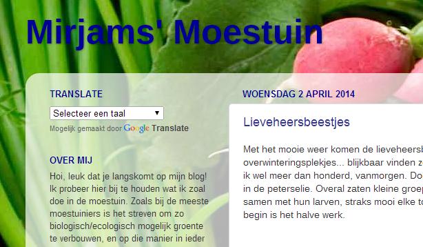 mirjam's moestuin tuinblog
