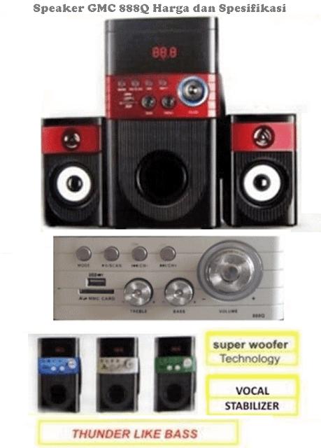 Harga Speaker GMC 888Q Aktif Spesifikasi