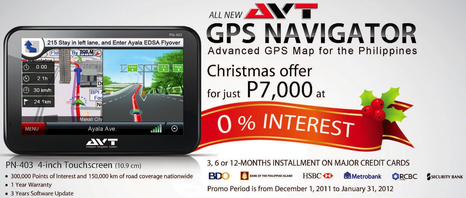 special avt gps navigator deals makes for great christmas gift philippine car news car. Black Bedroom Furniture Sets. Home Design Ideas