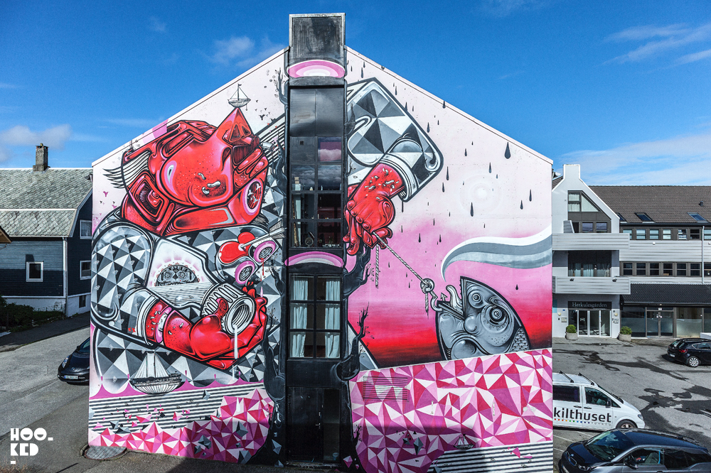 How and Nosm, Street Art Mural in Stavanger Norway. Photo ©Mark Rigney / Hookedblog