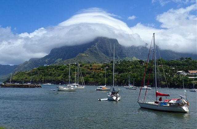 Hiva Oa French Polynesia anchorage our longest ocean navigation