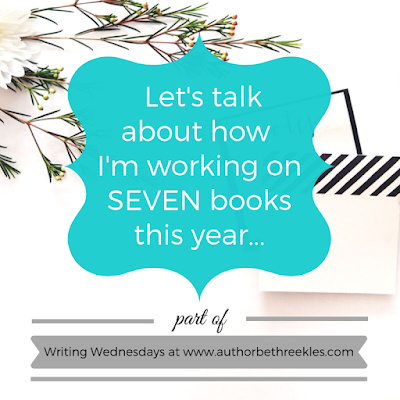 In 2019 I'm working on seven different books - alongside my day job and, ya know, LIFE. In this post, I talk about where I'm at with each of those books!