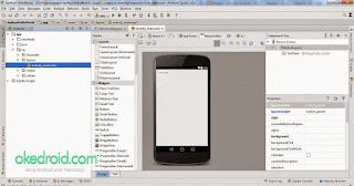 Tampilan Awal Aplikasi Pertama Android Studio