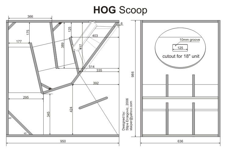 Hog Scoop Speaker Box Plan Design