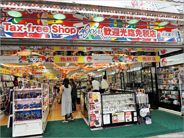 Comercios Libres de Impuestos para Extranjeros en Akihabara, Tokio