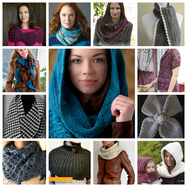 Bufandas y cuellos a crochet