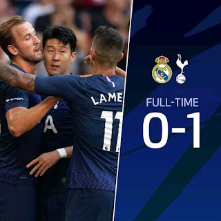 Harry Kane's Goal Proved Enough To Be The Winner Of The Game As Real Madrid Again With Another Pre Season Loss After Losing To Atletico Madrid 3-7 In Their Last Game.