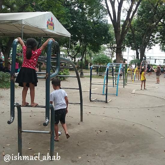 Monkey bars at Rizal Park Children's Playground