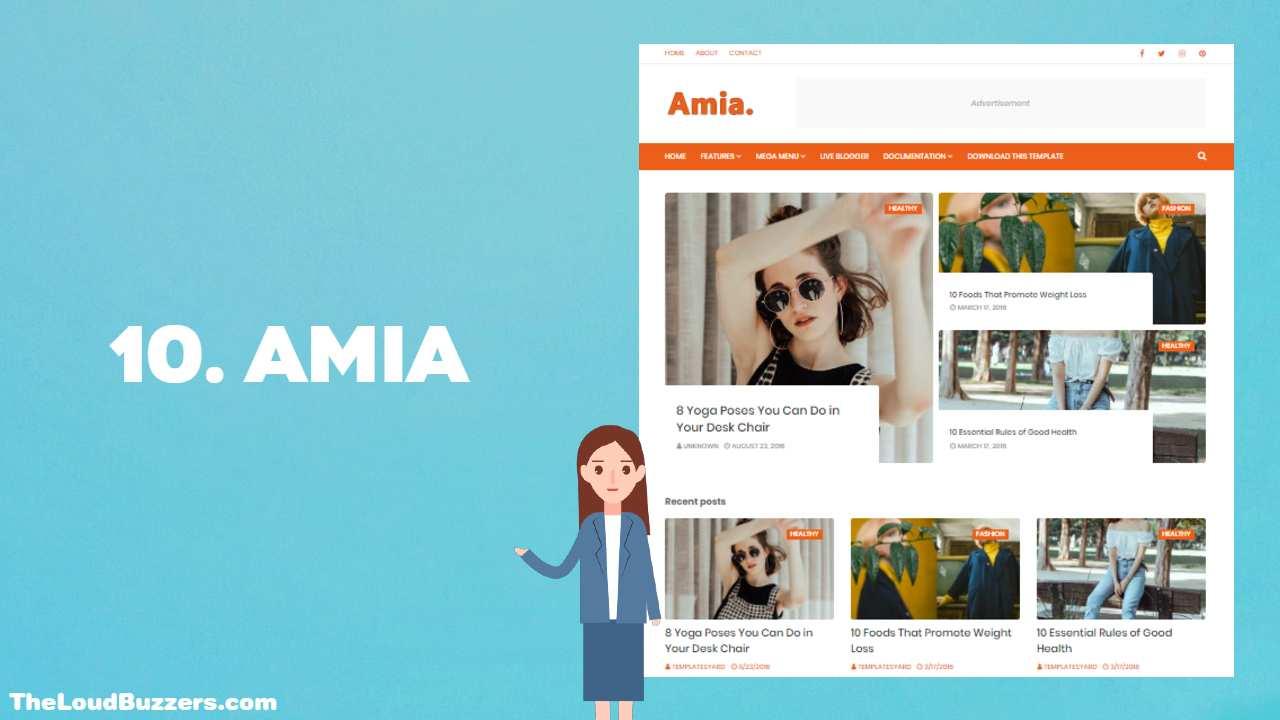 Amia Blogger Template