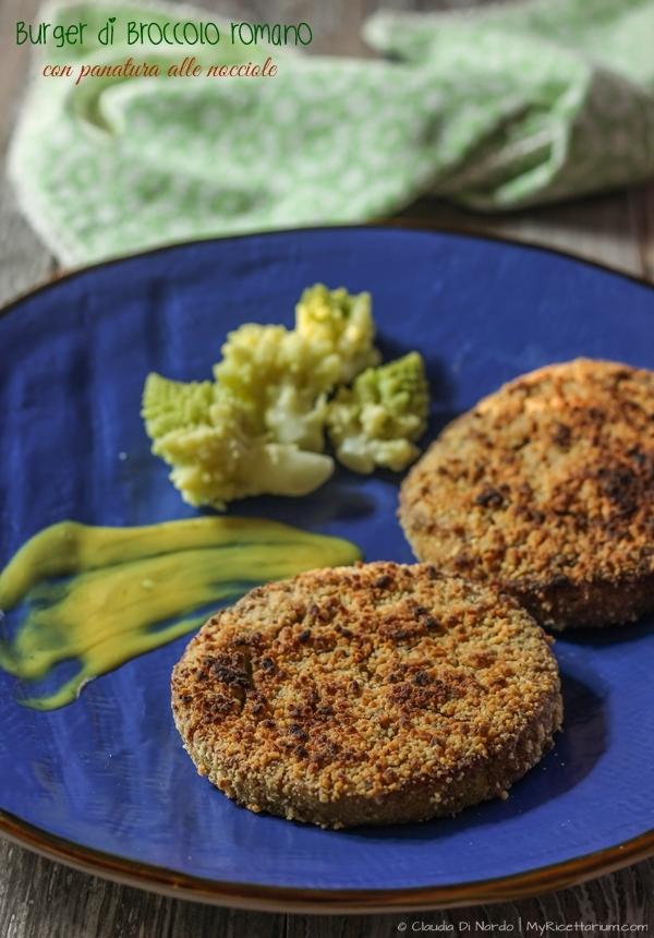 Burger di broccolo romano con panatura alle nocciole