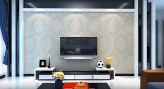 لمسه ديكور جبس تلفزيون LCD على الجدران