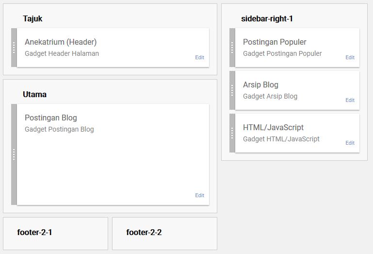 Tata Letak tema blog Simple Simply Simple Sesudah diedit