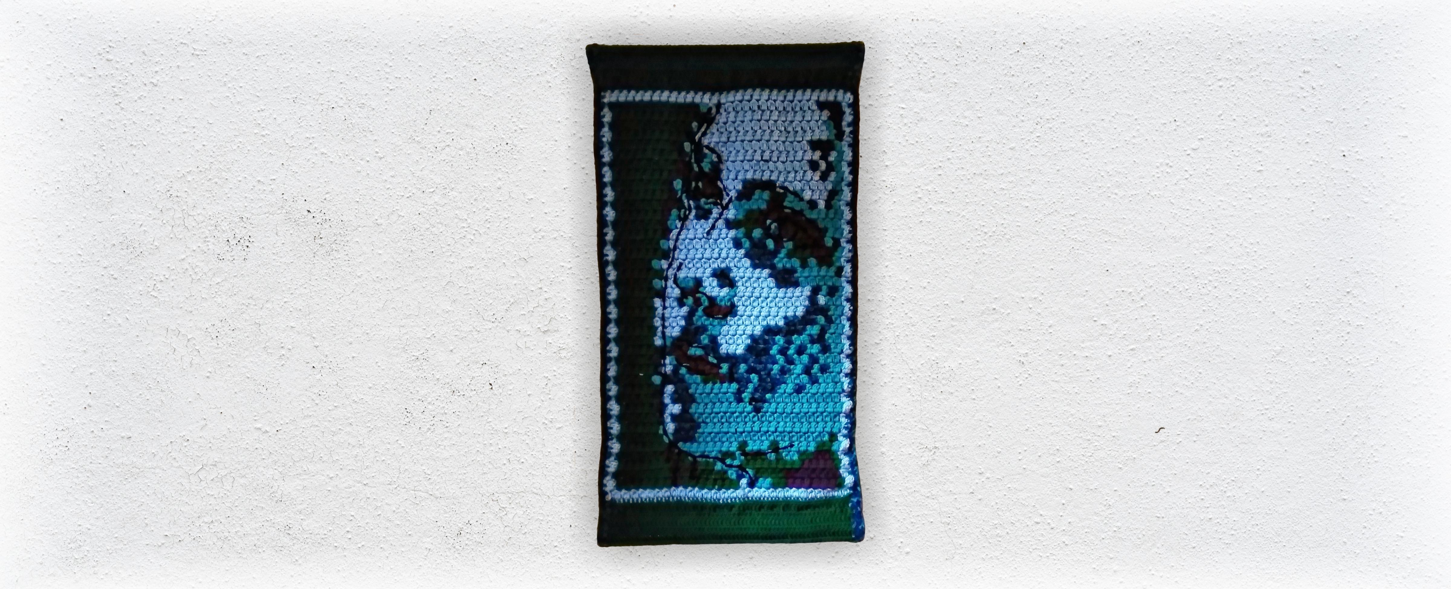 Greta Abstract Portrait Fine Art Tapestry by Jen Ten Art