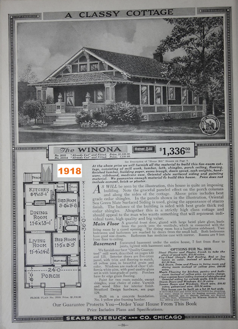 black and white catalog image of Sears Winona